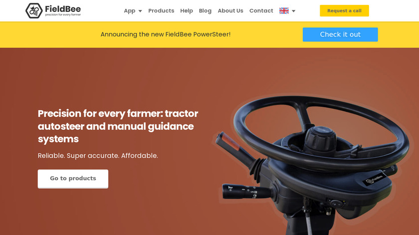 FieldBee tractor GPS navigation Landing Page