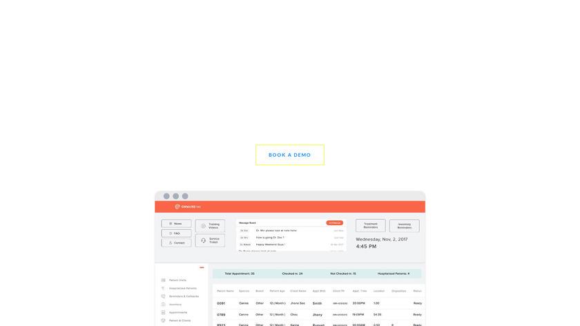 Onward Vet Landing Page