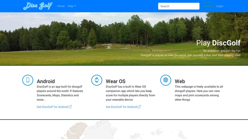 DiscGolf Lite Landing Page