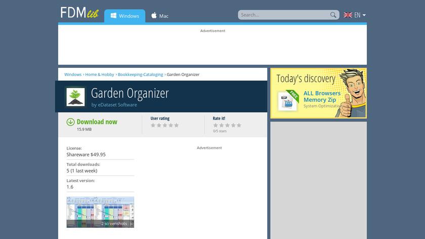 Garden Organizer: Manager & Planner Landing Page