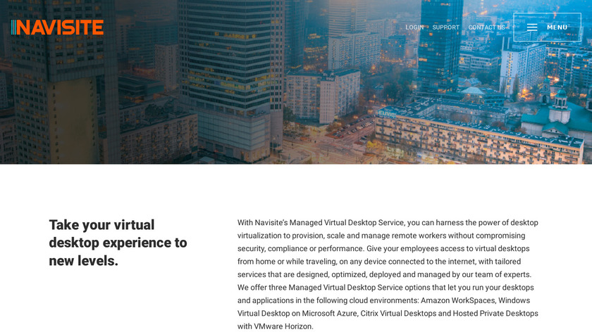 Navisite Desktop as a Service Landing Page