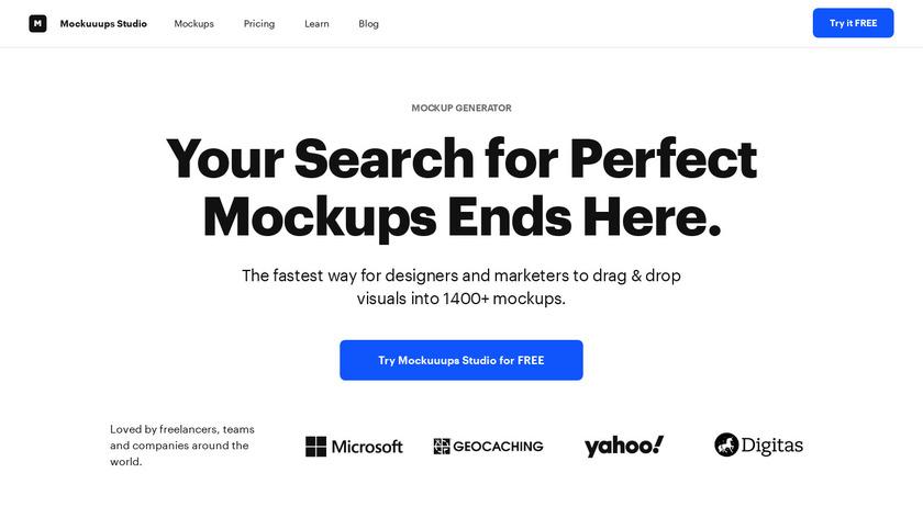 Mockuuups Studio Landing Page
