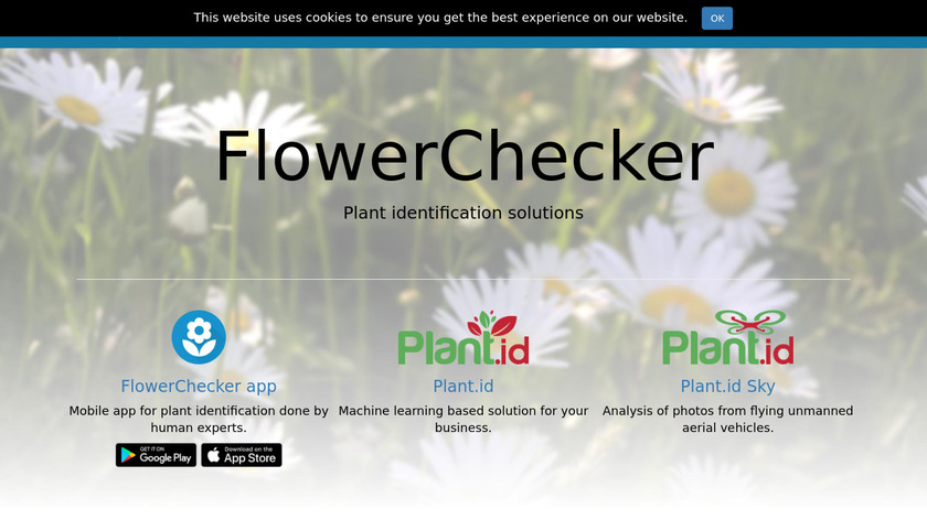 FlowerChecker+ Landing Page