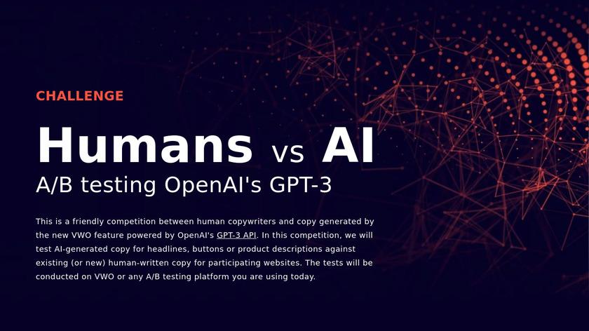 Humans vs AI Landing Page