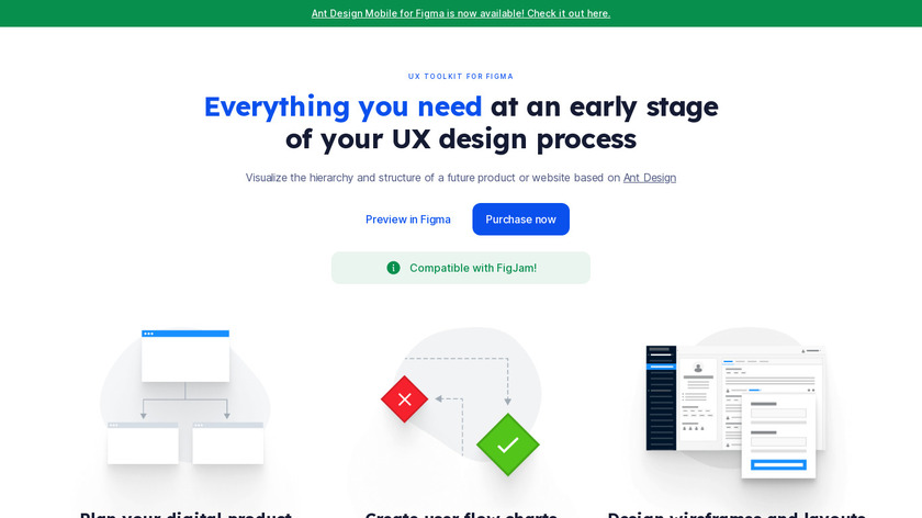 UX Toolkit for Figma Landing Page