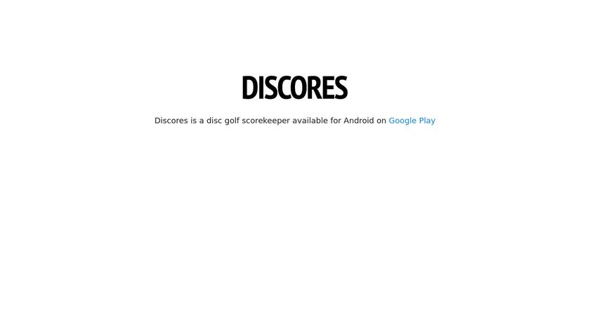 Discores Landing Page