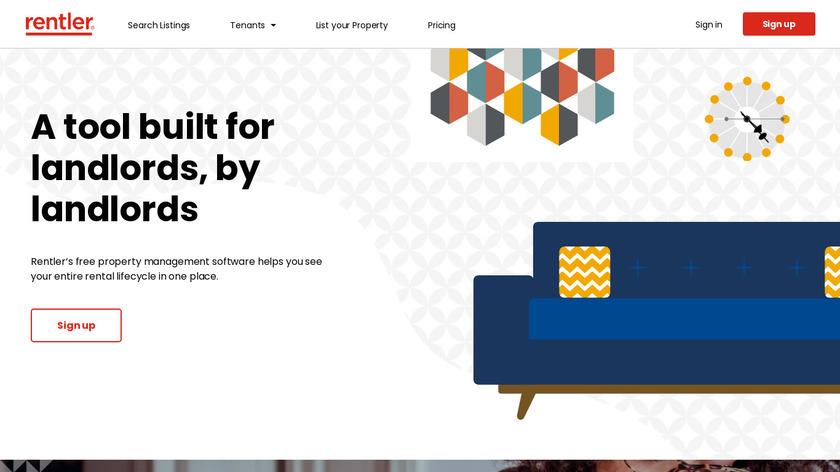 Rentler Landlord Software Landing Page