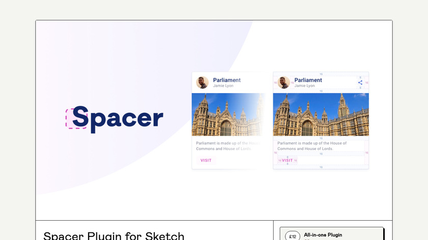 Spacer plugin for Sketch Landing Page