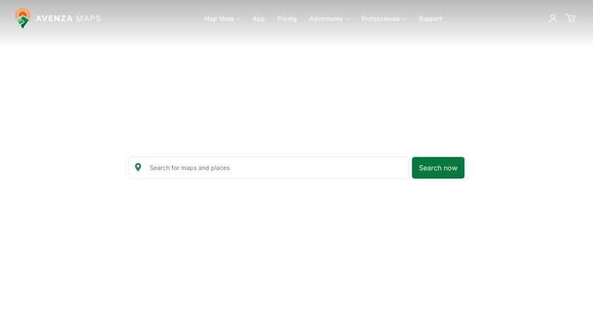 Avenza Maps Landing Page