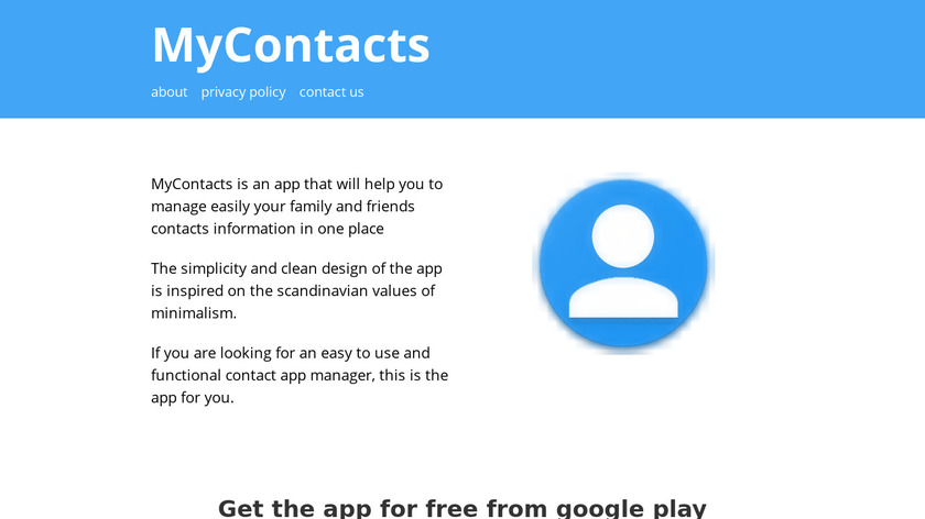 MyContacts Landing Page