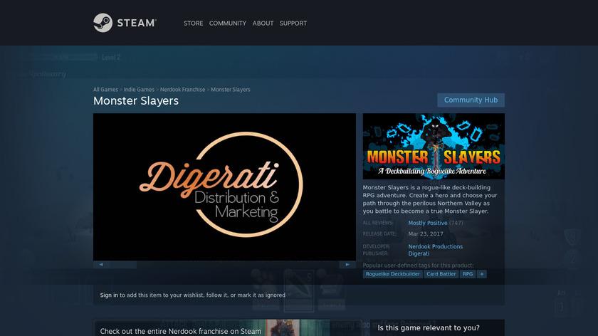 Monster Slayers Landing Page