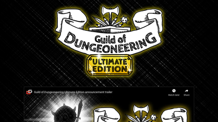 Guild of Dungeoneering Landing Page
