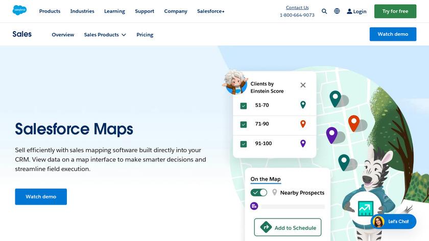 Salesforce Maps Landing Page