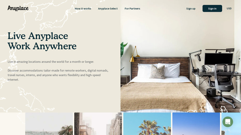 Anyplace Landing Page