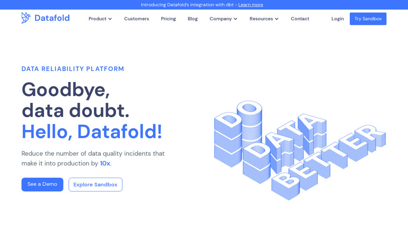 Datafold Landing Page