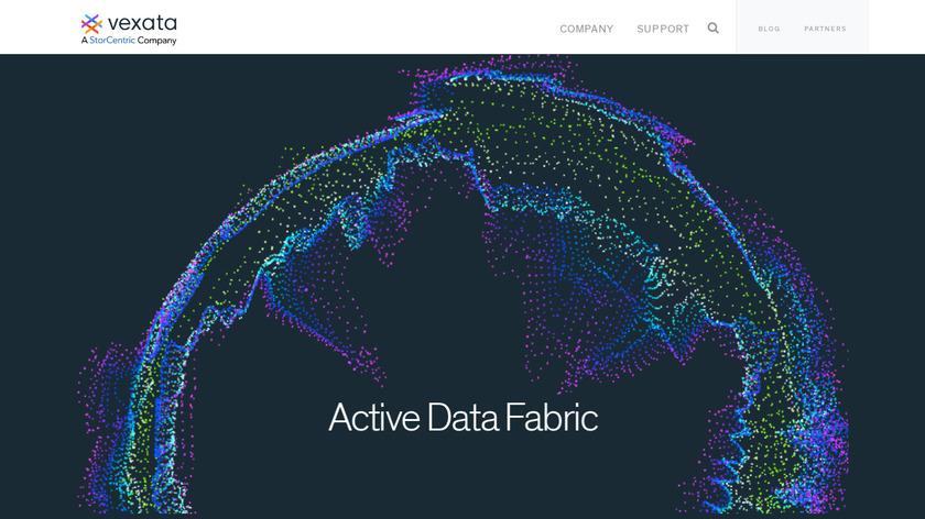 Vexata Active Data Fabric Landing Page