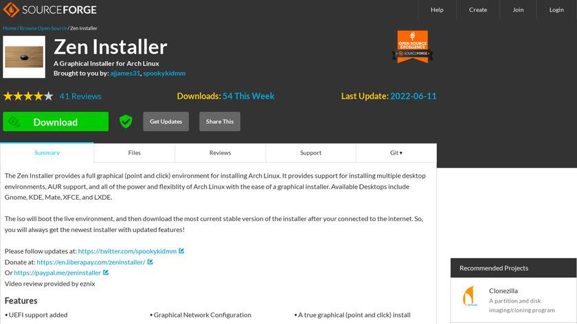 Zen Installer Landing Page