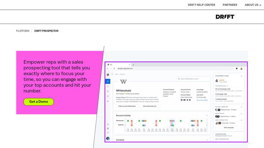Drift Prospector Landing Page