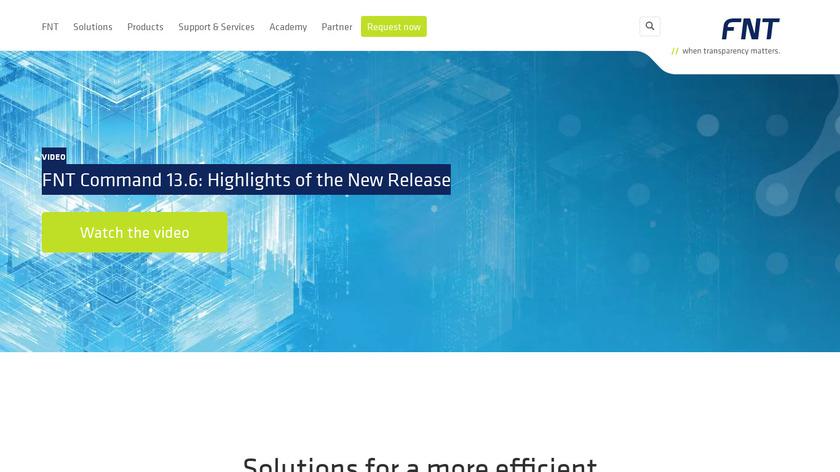 FNT DCIM Software Landing Page