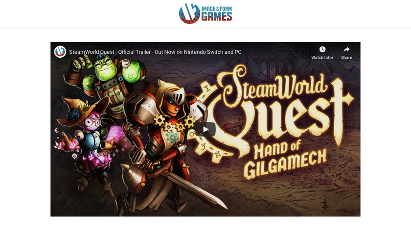 SteamWorld Quest: Hand of Gilgamech Landing Page