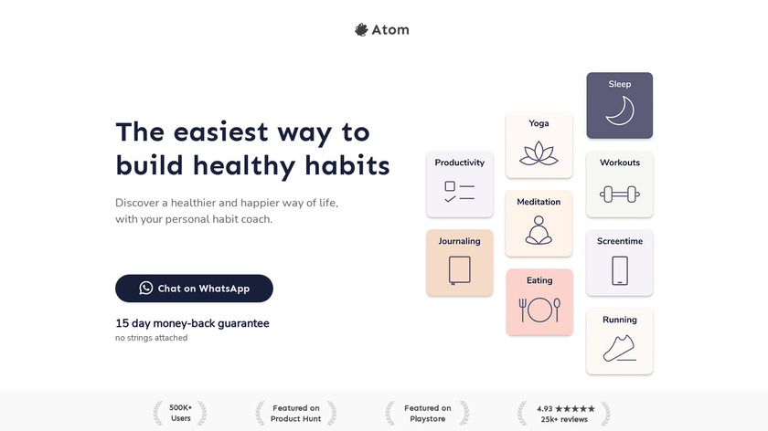 The Atom App Landing Page