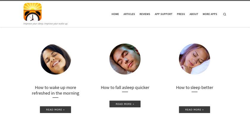 Gentle Wakeup Landing Page