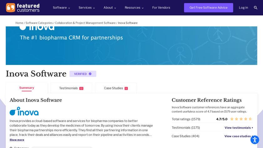 Inova Software Landing Page