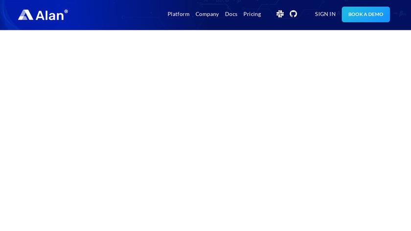 Alan AI Landing Page