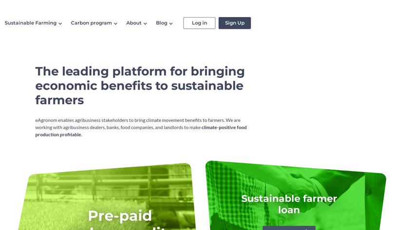 eAgronom Landing Page