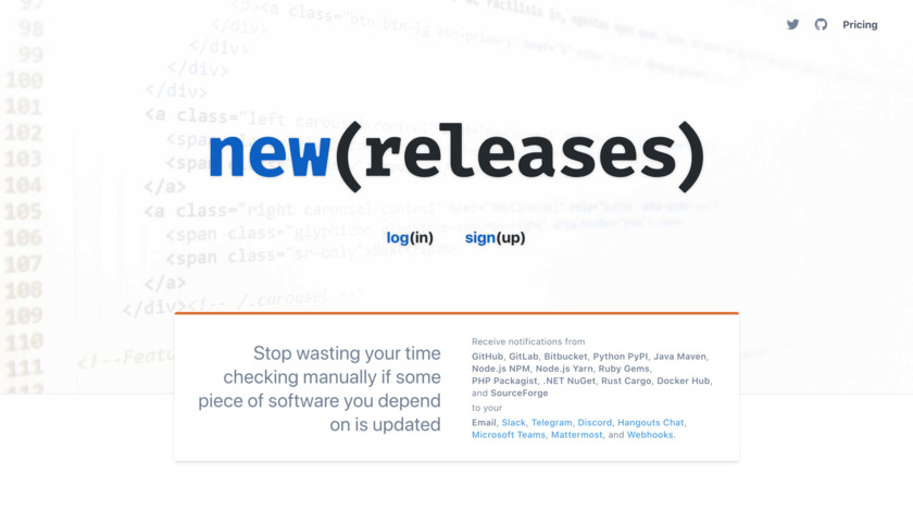 NewReleases Landing Page