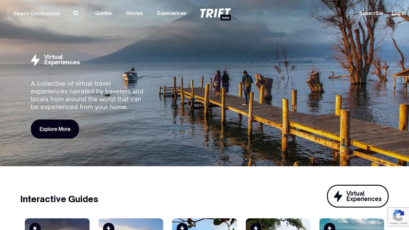 Trift - Virtual Travel Experiences Landing Page