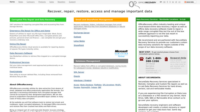 Office Recovery Landing Page