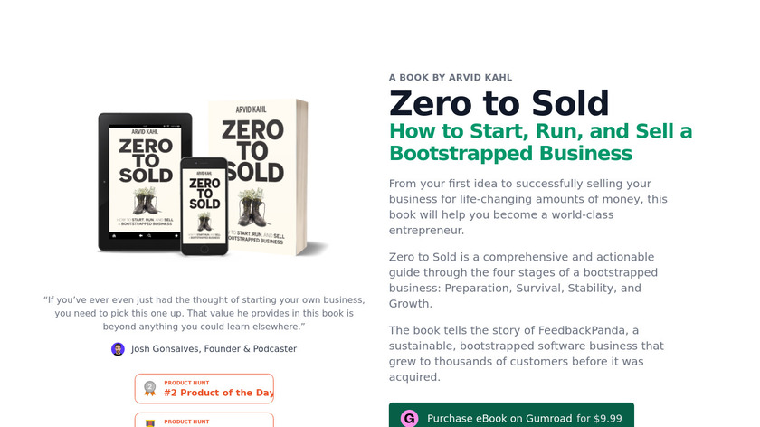Zero to Sold Landing Page