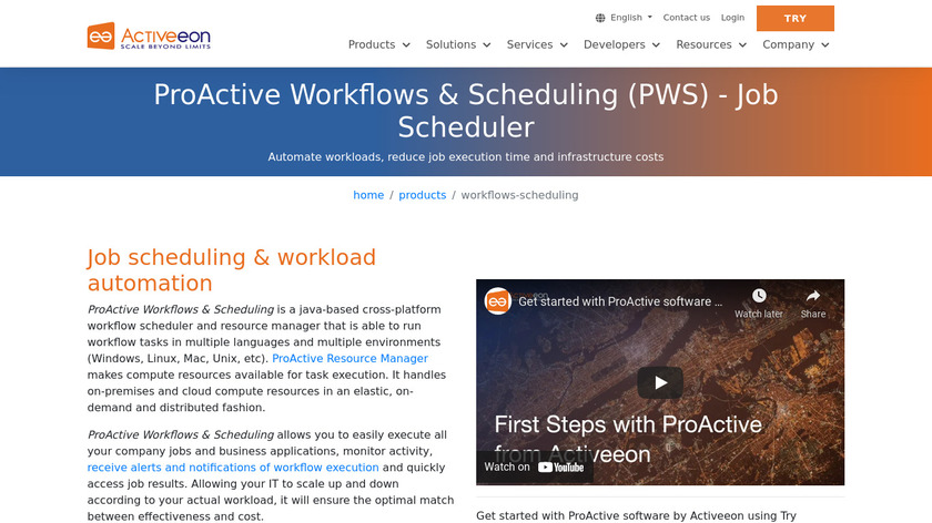 ProActive Workflows & Scheduling Landing Page