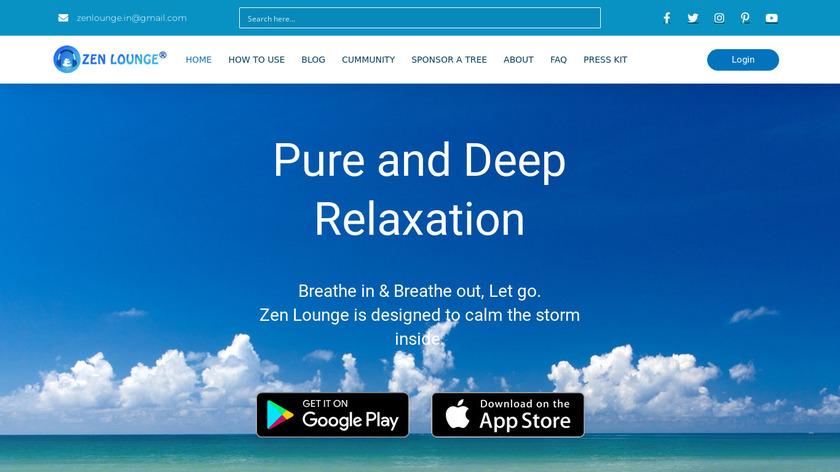 Zen Lounge Landing Page