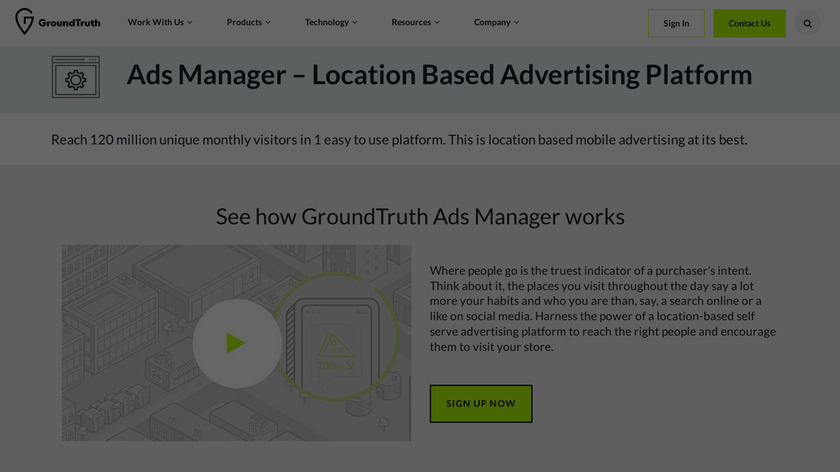 GroundTruth Ads Manager Landing Page