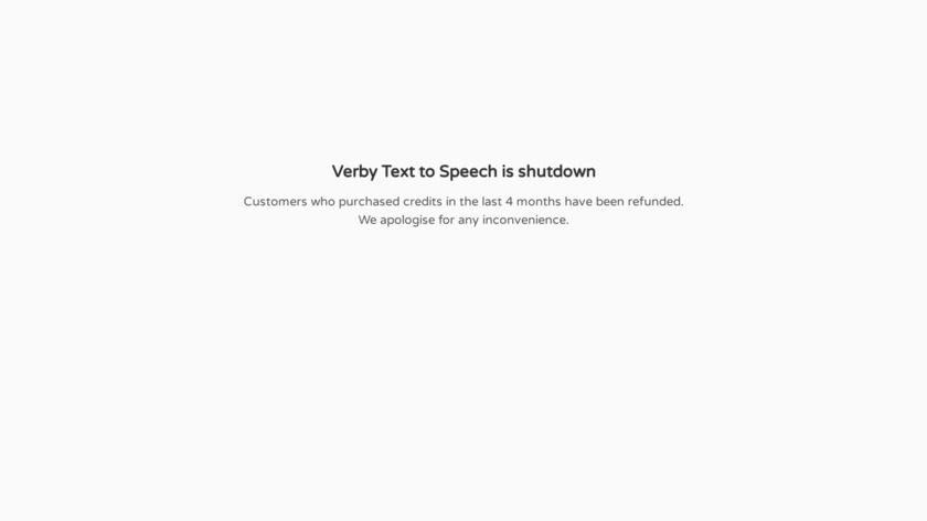 Verby Landing Page