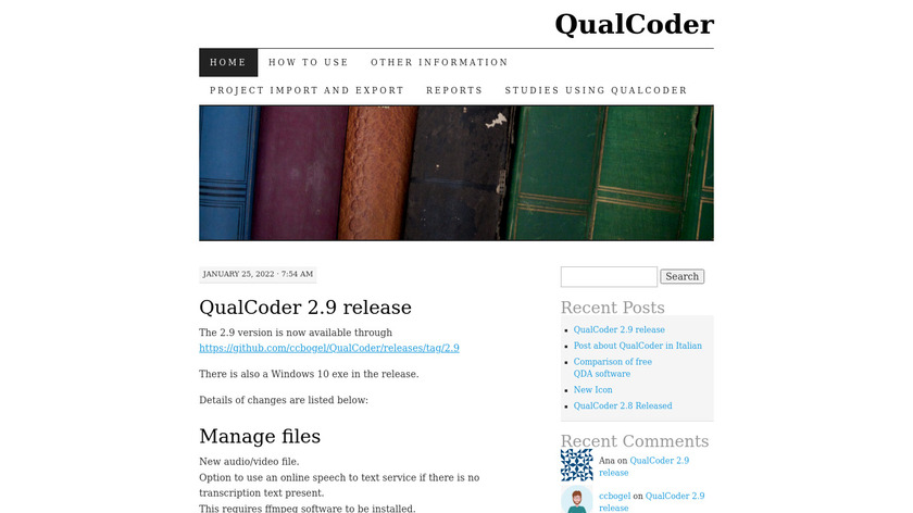 QualCoder Landing Page