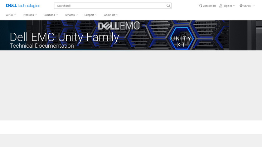 Dell EMC Unity Landing Page