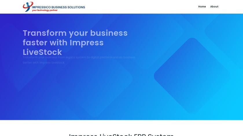 Impress LiveStock Landing Page