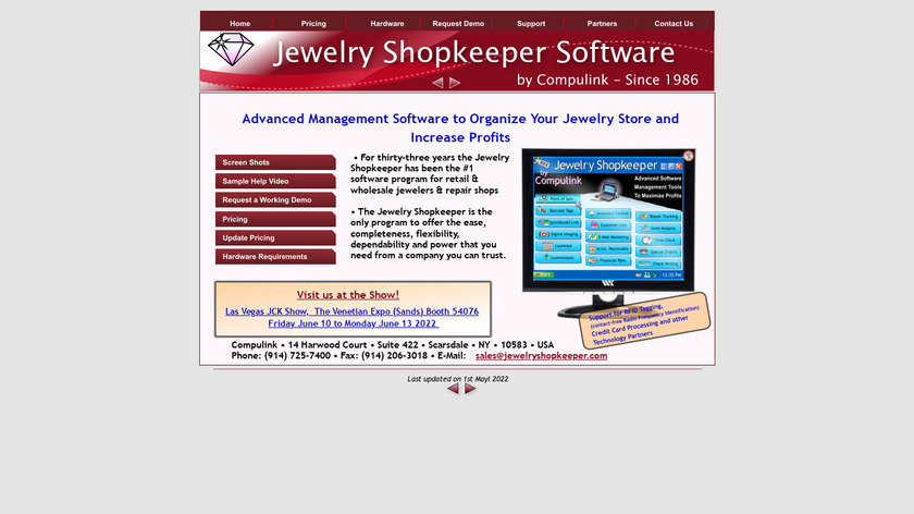The Jewelry Shopkeeper Landing Page