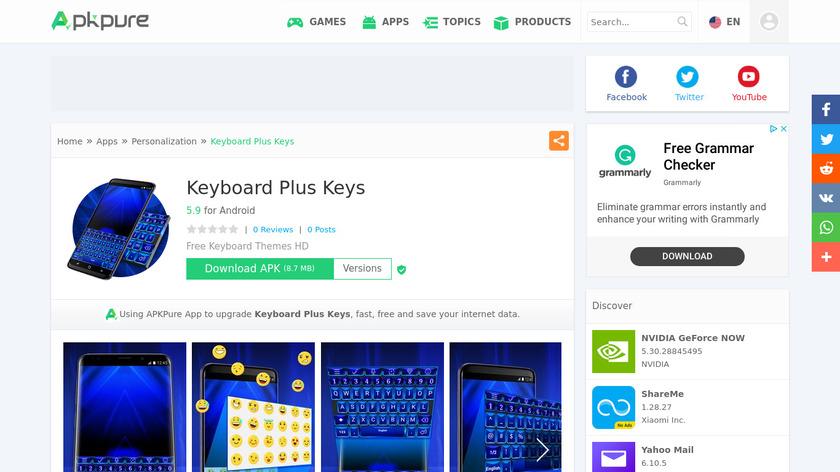 Live Keyboard Plus Landing Page