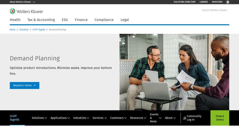 Vanguard Demand Planning Landing Page