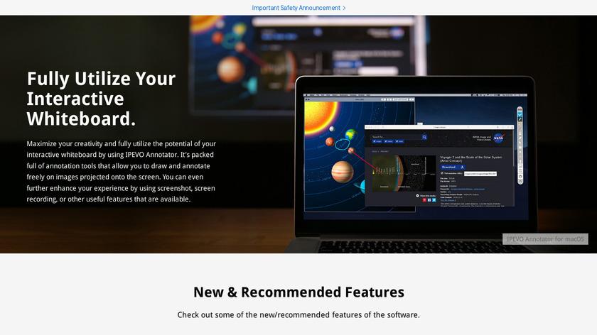 IPEVO Annotator Landing Page