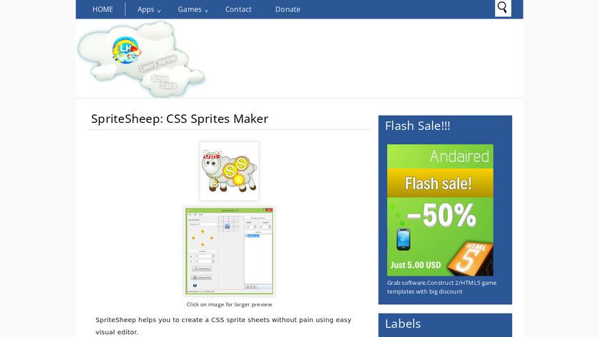 SpriteSheep Landing Page