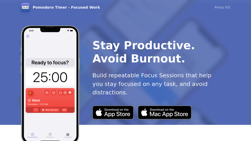 Focused Work Landing Page