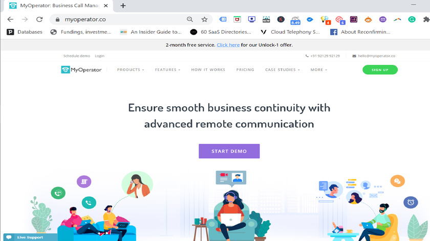MyOperator Landing Page