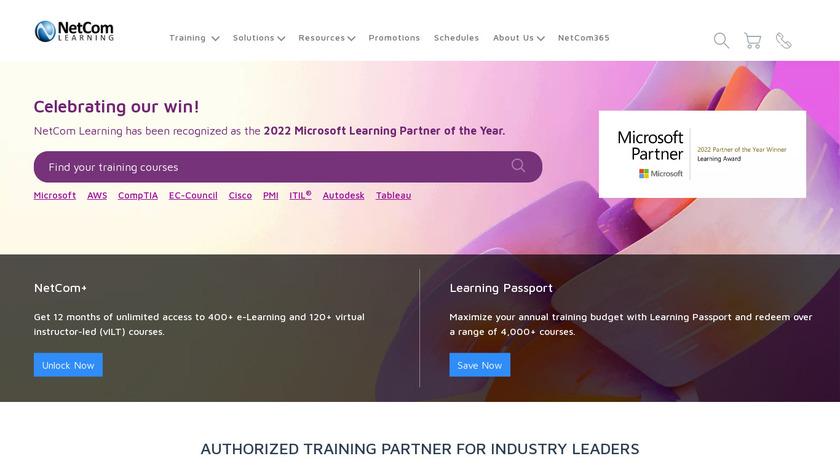 NetCom Learning Landing Page