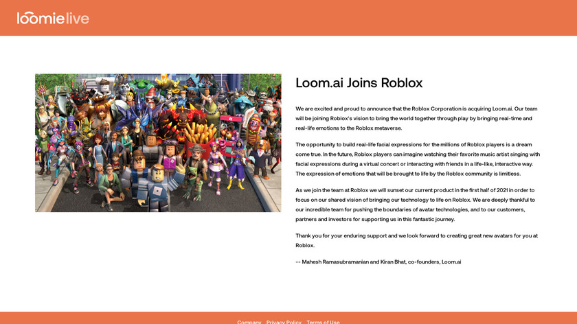 LoomieLive Landing Page