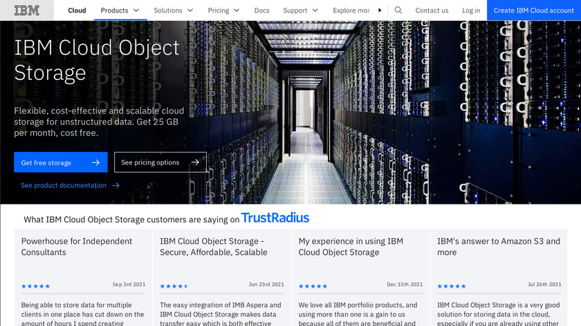 IBM Cloud Object Storage Landing Page